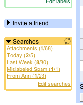 Persistent Searches Screenshot