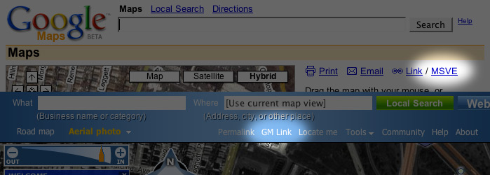 Screenshot of Greasemonkey modifications